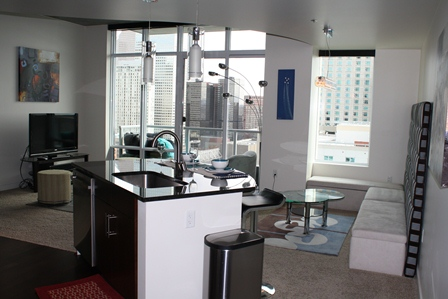 1BD/1BA Spire Condo on the 23rd Floor