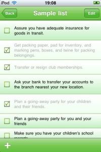 Move Planner - iPhone App