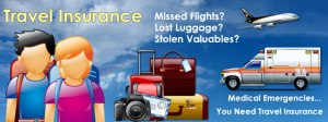 Travel Insurance covers for all of this and much more! Don't travel anywhere without it!