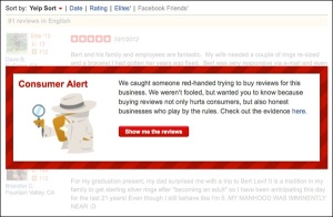 Yelp.com is trying to better regulate businesses from trying to buy better reviews.
