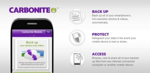 Carbonite has a mobile app as well that will allow you to backup and protect your smartphone(s).