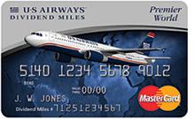 US Airways Dividend Miles Premier World Mastercard