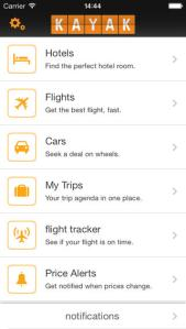The Kayak app can be used to search through hundreds of travel sites for hotels, flights, rental cars, etc. in one easy to use place.