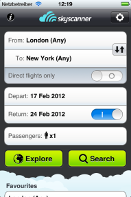 The Skyscanner app is another great way to search for flights. Filter your search results to show you the cheapest dates/times to fly if your travel is flexible.
