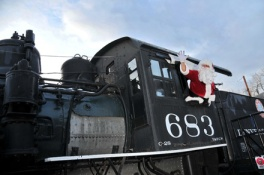 Take your kids to meet Santa and ride the train at the Colorado Railroad Museum this Holiday season.