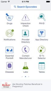 Eprocrates App for Traveling nurses provides all sorts of useful information right at your fingertips.