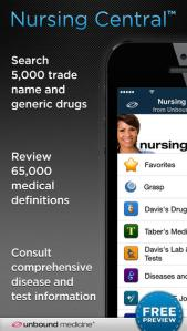 This Nursing Central app is available for purchase and gives nurses information about everything they will need while traveling and also gives them access to Nursing Journals.