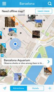 The Tripomatic app is like your personal travel planner. Use it to find the best attractions and must see places in your new city.