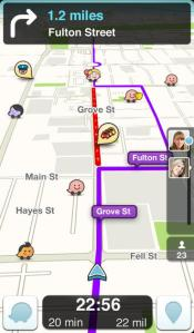 This fun GPS app gives you up to date information while you are driving about accidents, gas prices, etc.